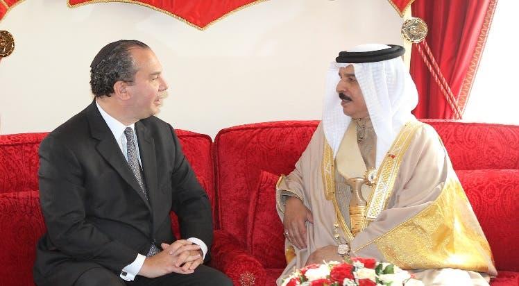 American Rabbi Marc Schneier, left, with Bahrain's King Hamad bin Isa Al Khalifa. (Supplied)