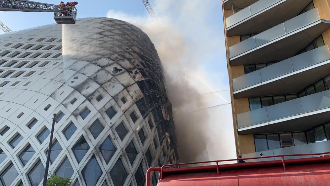Fire breaks out in a landmark building in central Beirut. (Twitter)