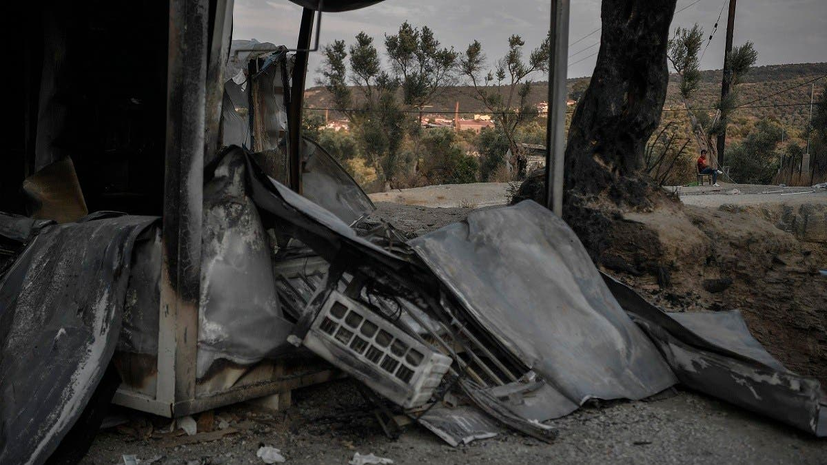 Greek police arrest five migrants over Moria camp fire: Official thumbnail