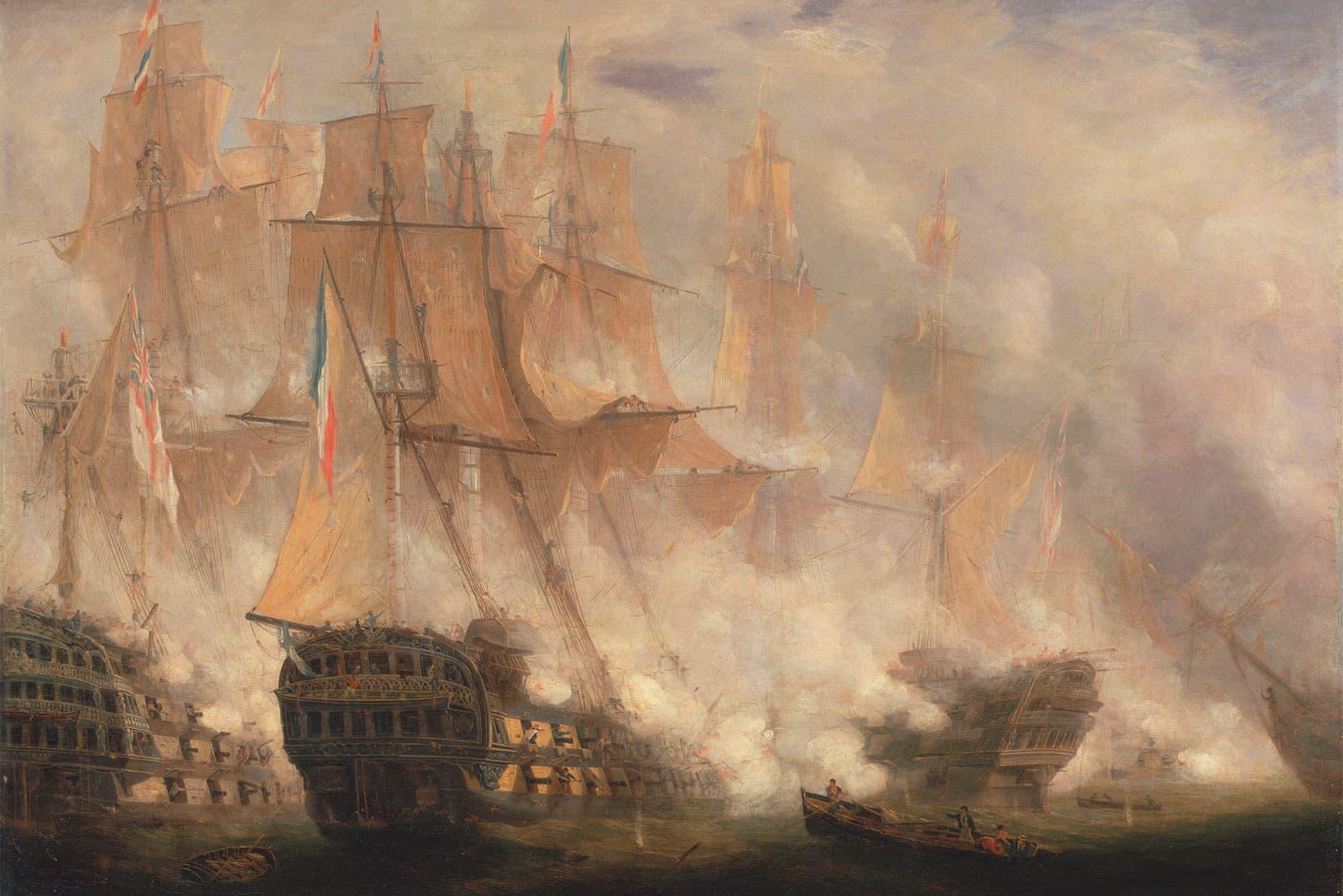لوحة تجسد جانبا من معركة طرف الغار
