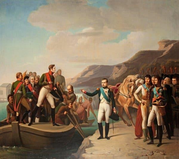 لوحة تجسد لقاء نابليون وألكسندر الأول بتيلسيت