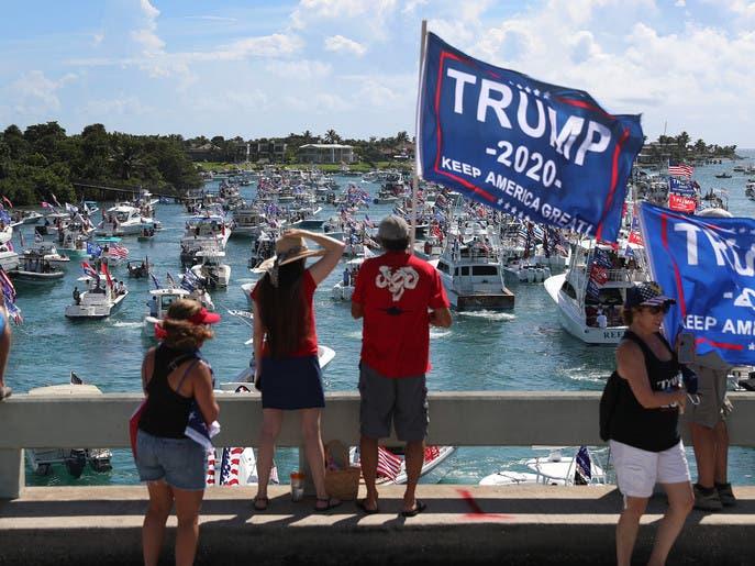 الصراع بين ترمب وبايدن يحتدم في فلوريدا المتأرجحة