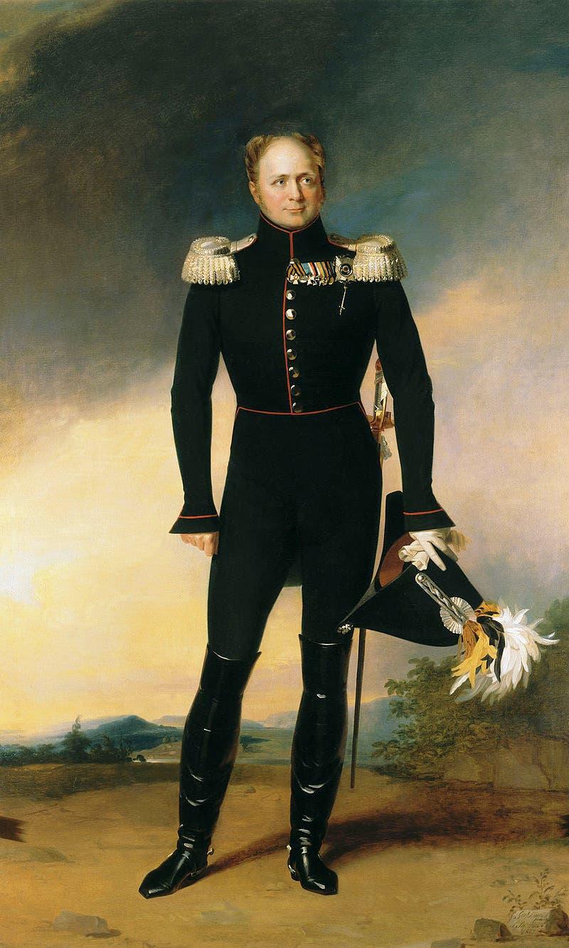 لوحة تجسد القيصر الروسي ألكسندر الأول