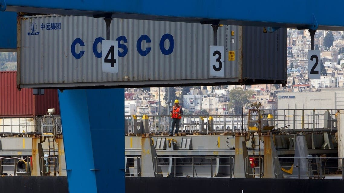 A container is unloaded from a cargo ship at the port of the northern city of Haifa, Israel. (File photo: Reuters)