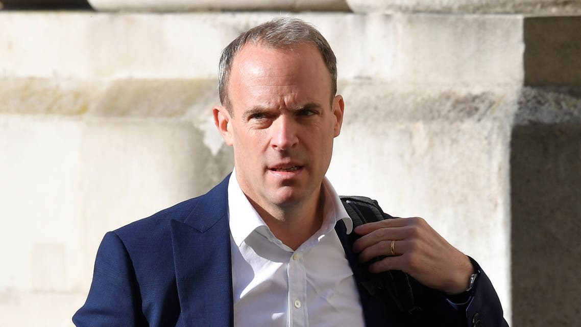 Britain's Foreign Secretary Dominic Raab arrives to attend a Cabinet meeting of senior government ministers at the Foreign and Commonwealth Office (FCO) in London, Britain, September 1, 2020. REUTERS/Toby Melville/Pool