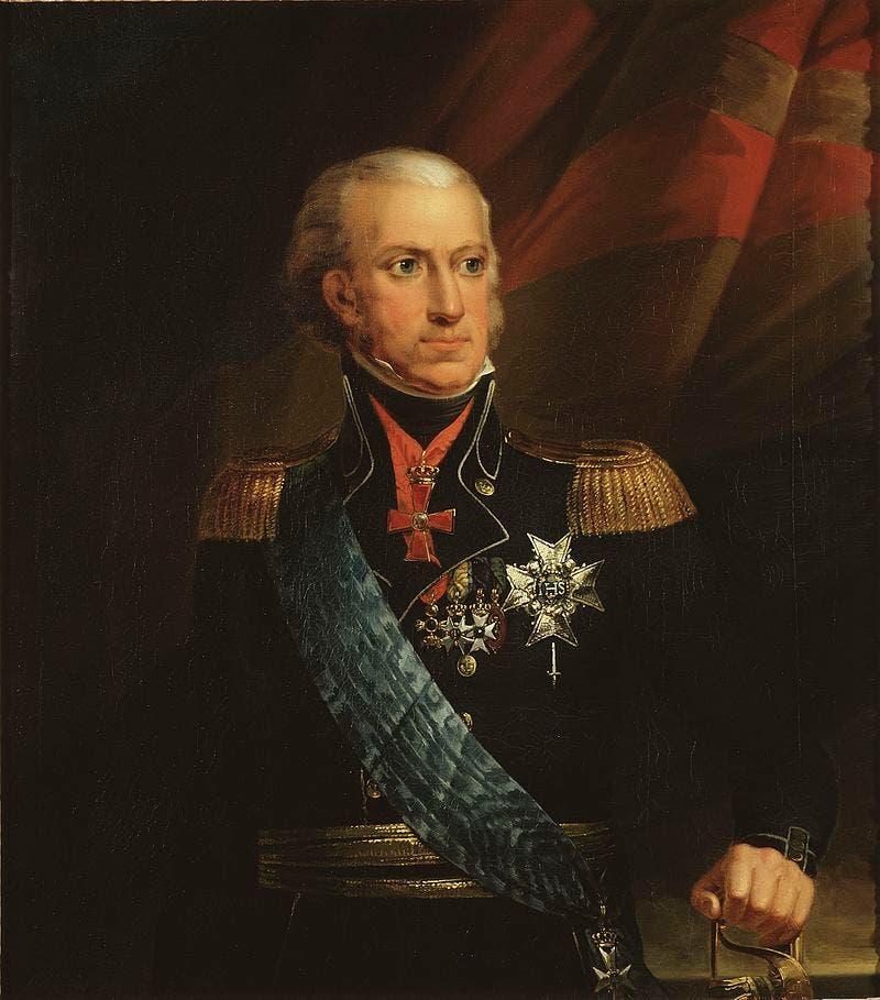 لوحة تجسد ملك السويد كارل الثالث عشر