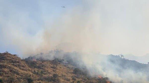 إخماد حريق في جبل عمد بالطائف.. ولا إصابات