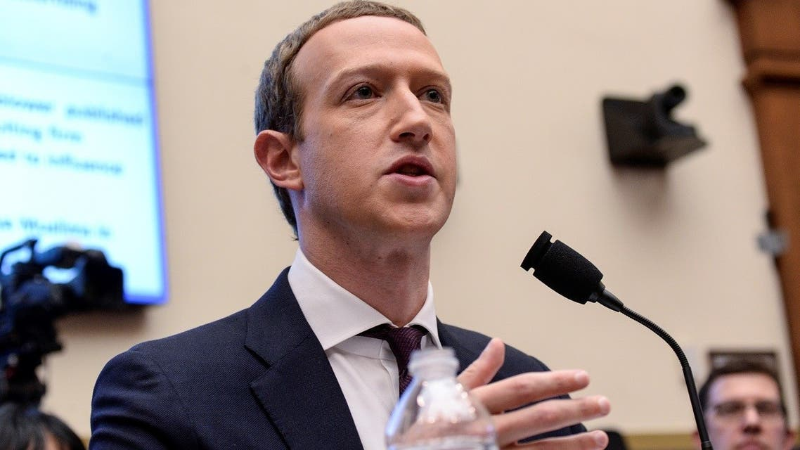 Facebook Chairman and CEO Mark Zuckerberg testifies at a House Financial Services Committee hearing examining the company's plan to launch a digital currency on Capitol Hill in Washington, US, on October 23, 2019. (Reuters)