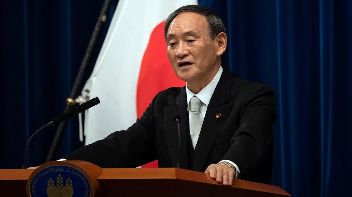 Yoshihide Suga speaks during a news conference following his confirmation as Prime Minister of Japan in Tokyo, Japan September 16, 2020. (Reuters)