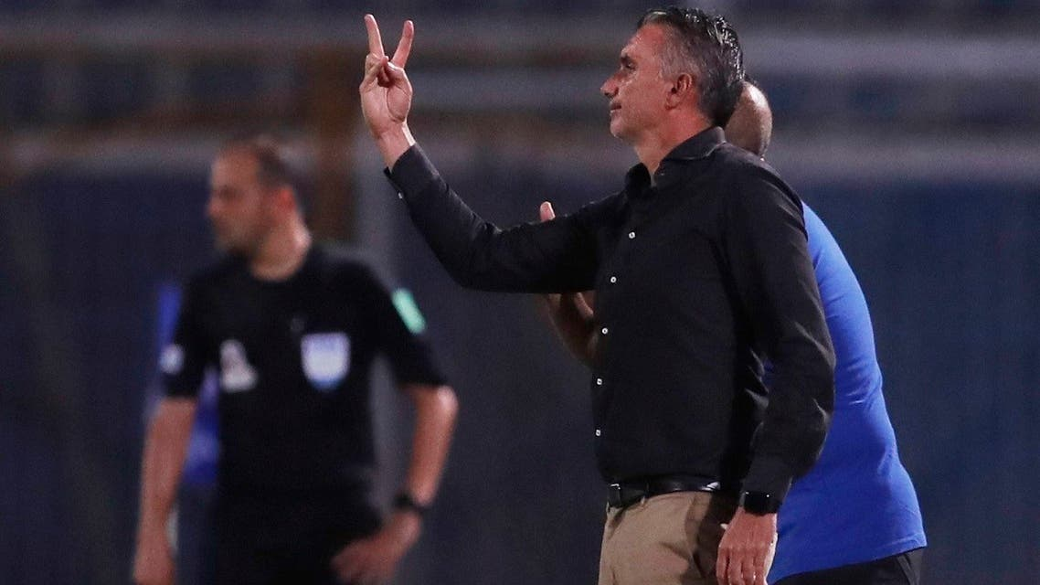 Coach Patrice Carteron seen during a match in the Egyptian Premier League. (File photo: Reuters)