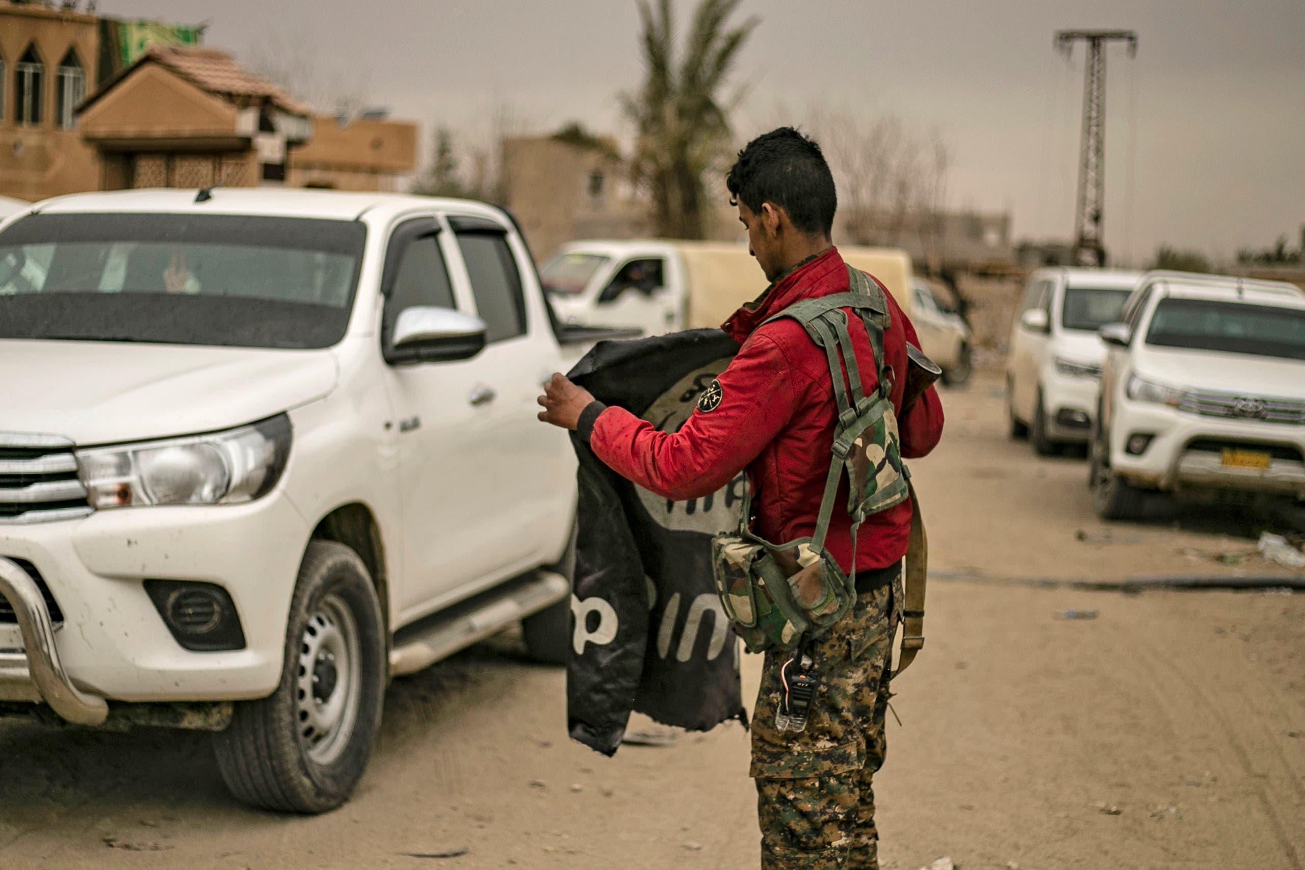 راية داعش في سوريا (أرشيفية- فرانس برس)
