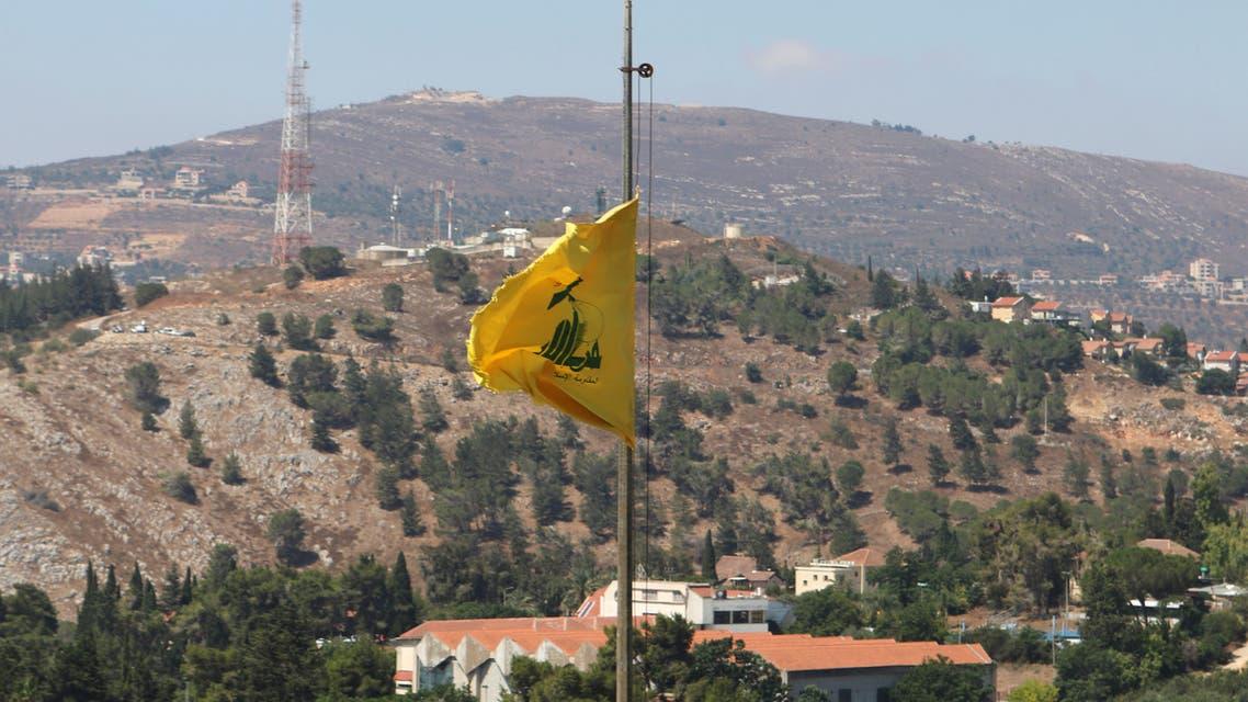 علم حزب الله جنوب لبنان (أرشيفية- فرانس برس)
