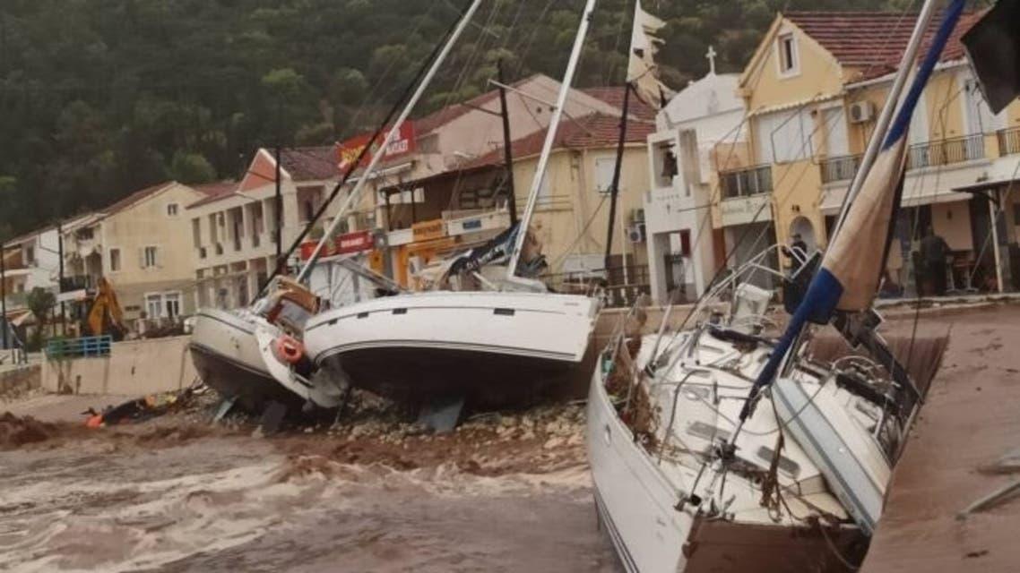 Greece braces for a hurricane-like storm lashing the Ionian Sea. (Twitter)