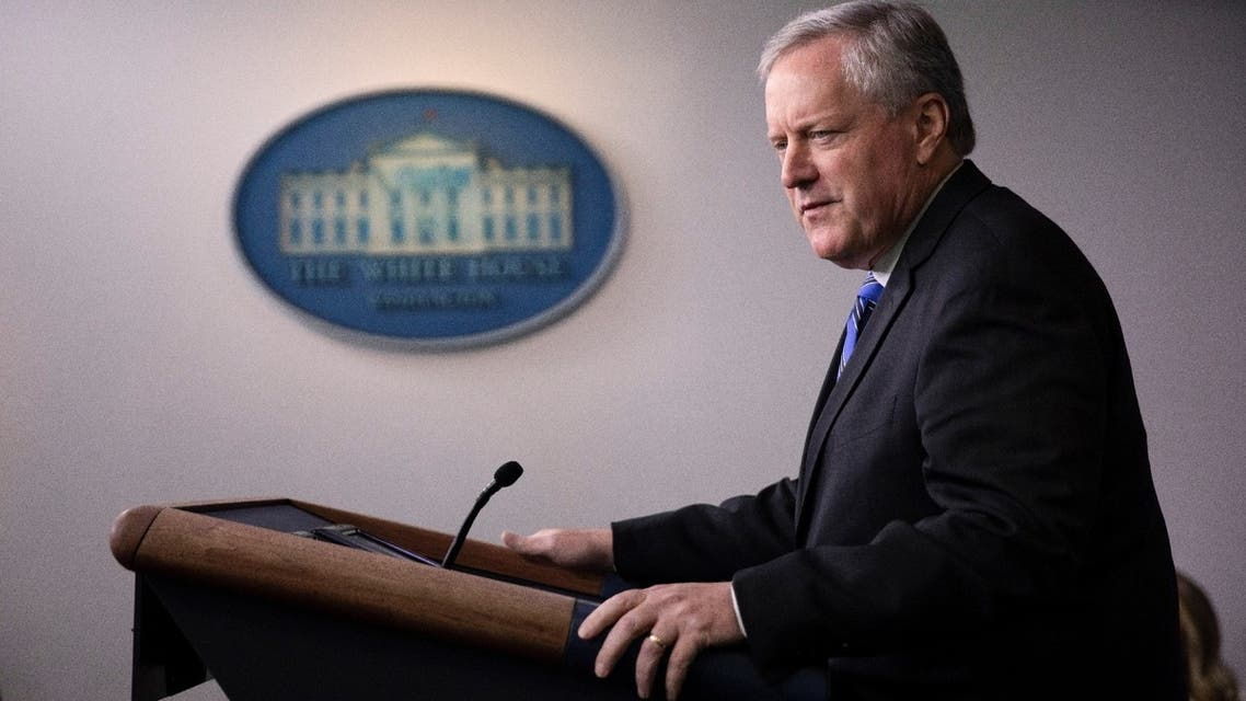 White House Chief of Staff Mark Meadows speaks to reporters during a news briefing at the White House in Washington, US, July 31, 2020. (Reuters)