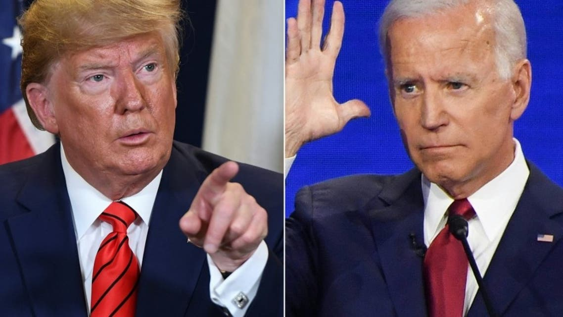 US President Donald Trump (L) and Democratic presidential hopeful former Vice President Joe Biden (R). (AFP)