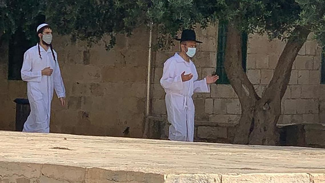 Jewish worshippers at Al Aqsa in Jerusalem on September 20, 2020. (Supplied)