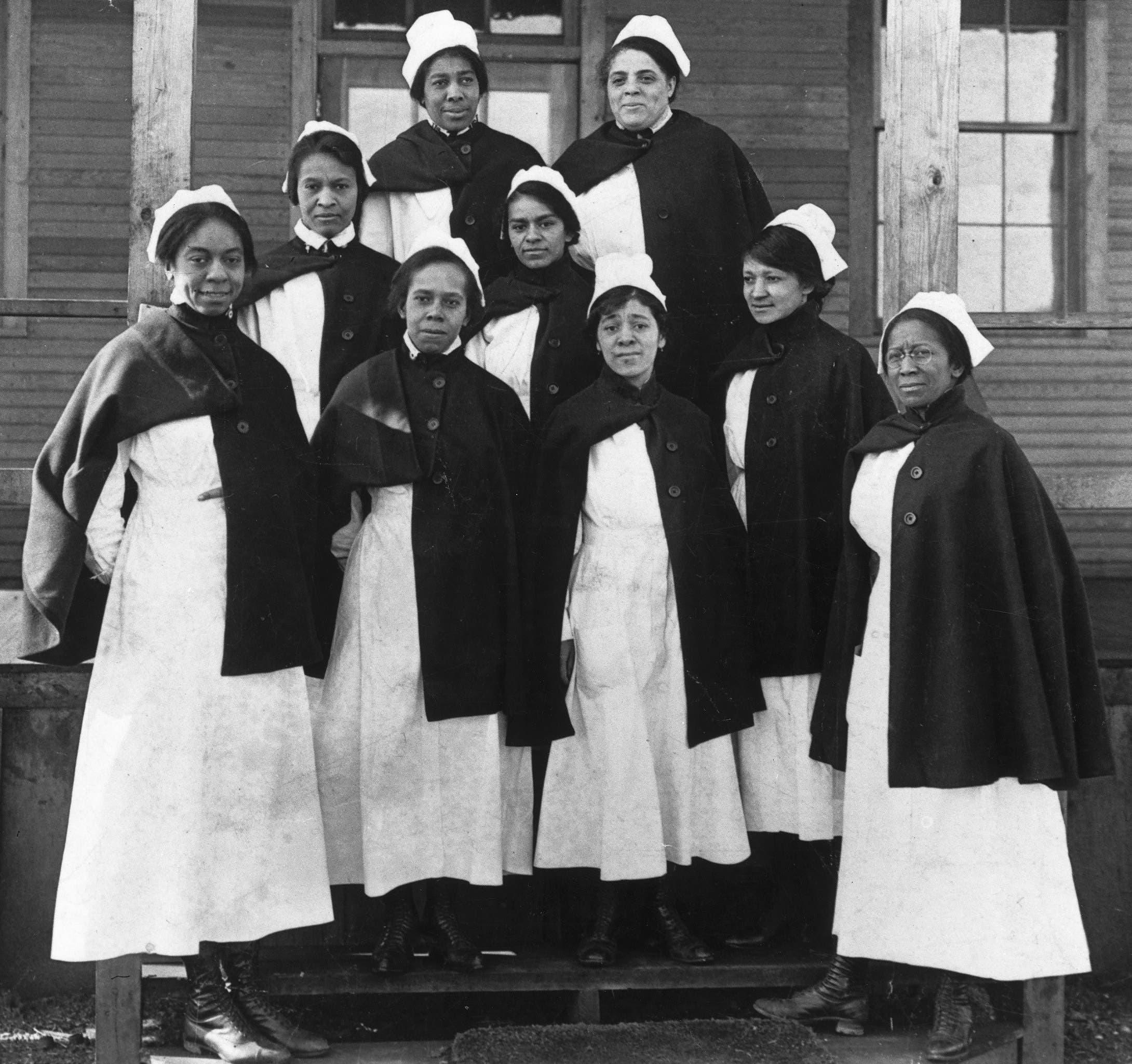 صورة لممرضات أميركيات من أصول إفريقية