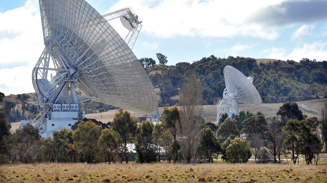 A general view shows the space communication dish at the Canberra Deep Space Communication Station at Tidbinbilla in Canberra. (AFP)