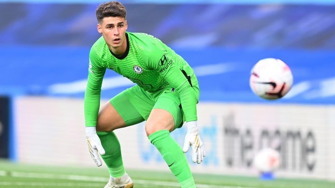 Chelsea's Kepa Arrizabalaga in action against Liverpool, Stamford Bridge, London, Britain, on September 20, 2020. (Reuters)