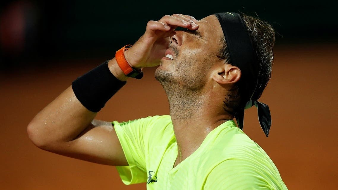 Spain's Rafael Nadal reacts during his quarter final match against Argentina's Diego Schwartzman. (Reuters)