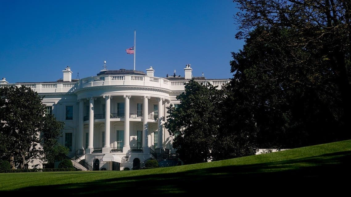 The American flag above the White House is seen at half staff after the death of Supreme Court Justice Ruth Bader Ginsburg in Washington. (Reuters)
