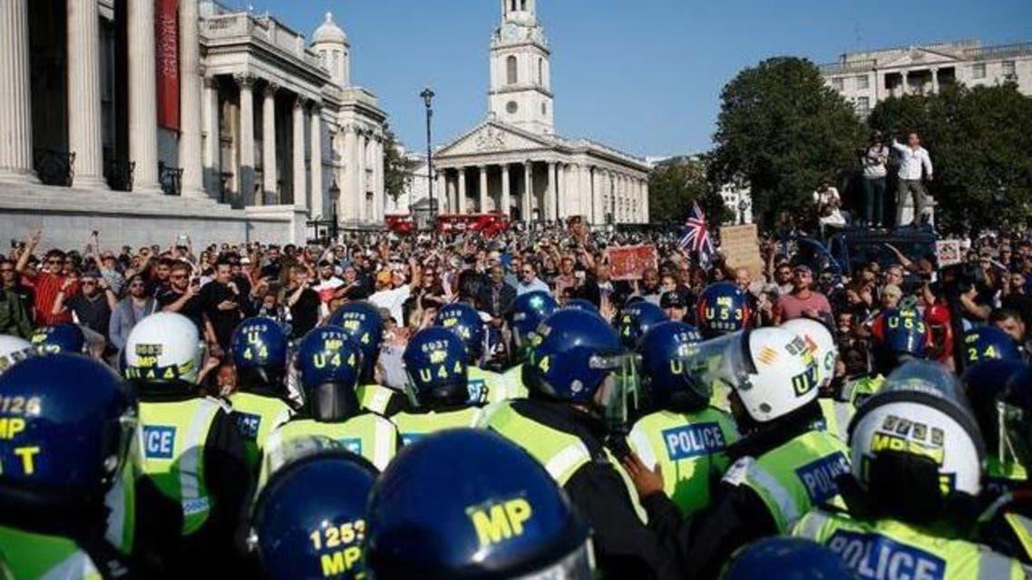 مظاهرات ضد الإغلاق بريطانيا كورونا
