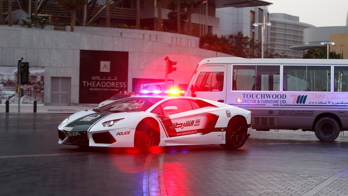 A Lamborghini Aventador, a model used by Dubai police, is seen on patrol in Dubai. (Illustrative photo: Reuters)