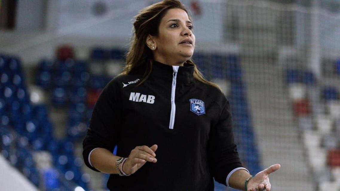 Saudi female football team coach Meraam albitari