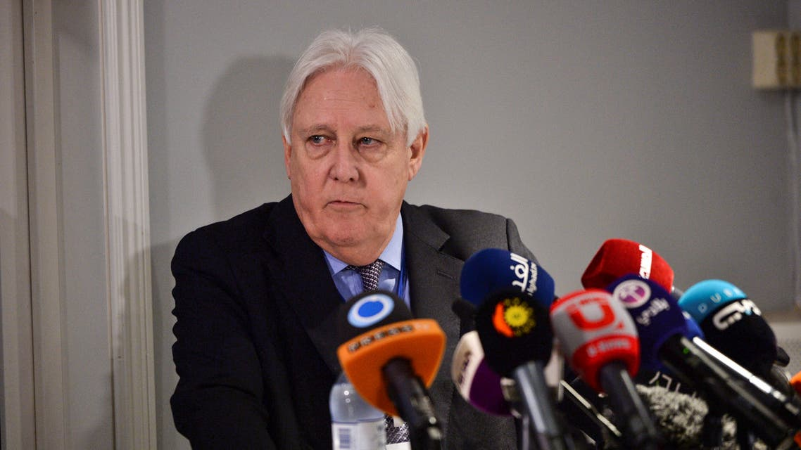 United Nations Special Envoy to Yemen Martin Griffiths is seen during a news conference at Johannesberg Palace, north of Stockholm. (Reuters)