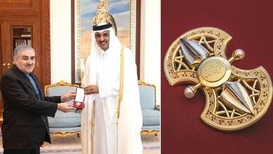 أمير قطر أهدى 184 حجر ماس وياقوت لسفير إيران بالدوحة