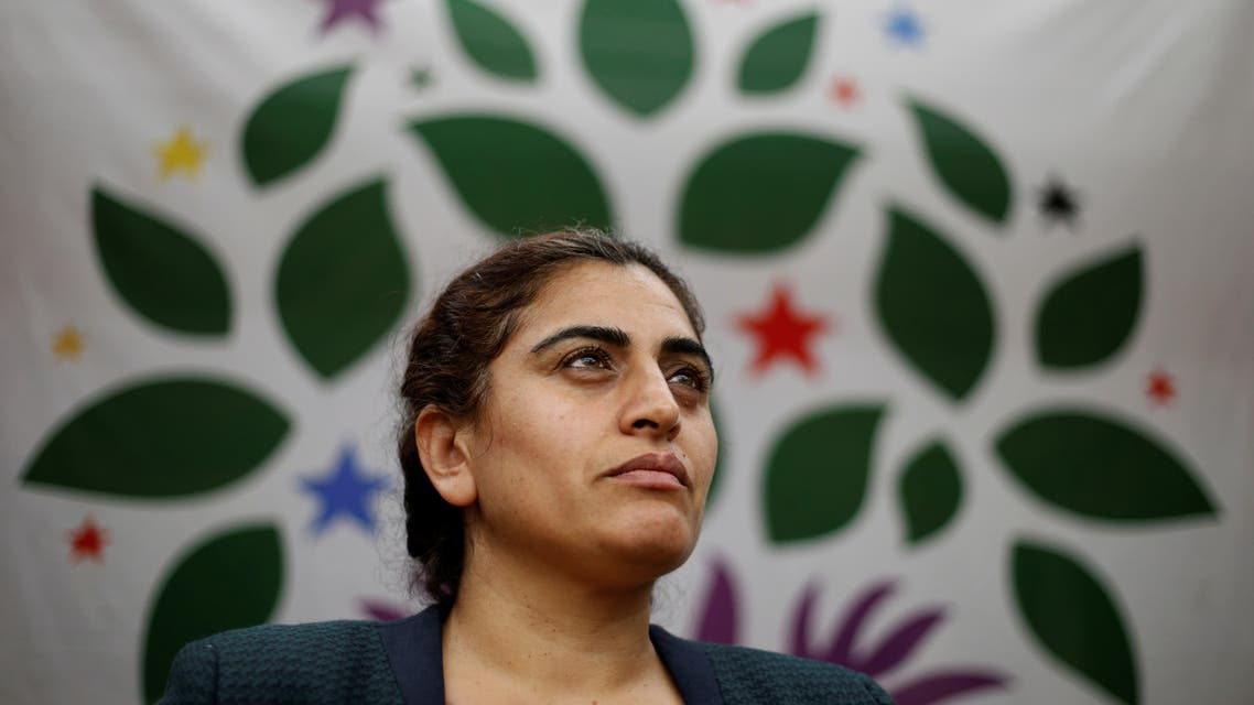 Sebahat Tuncel, co-chairwoman of the Peoples' Democratic Congress (HDK), pauses during her address to a political rally in northern Tokyo October 15, 2015. (File photo: Reuters)
