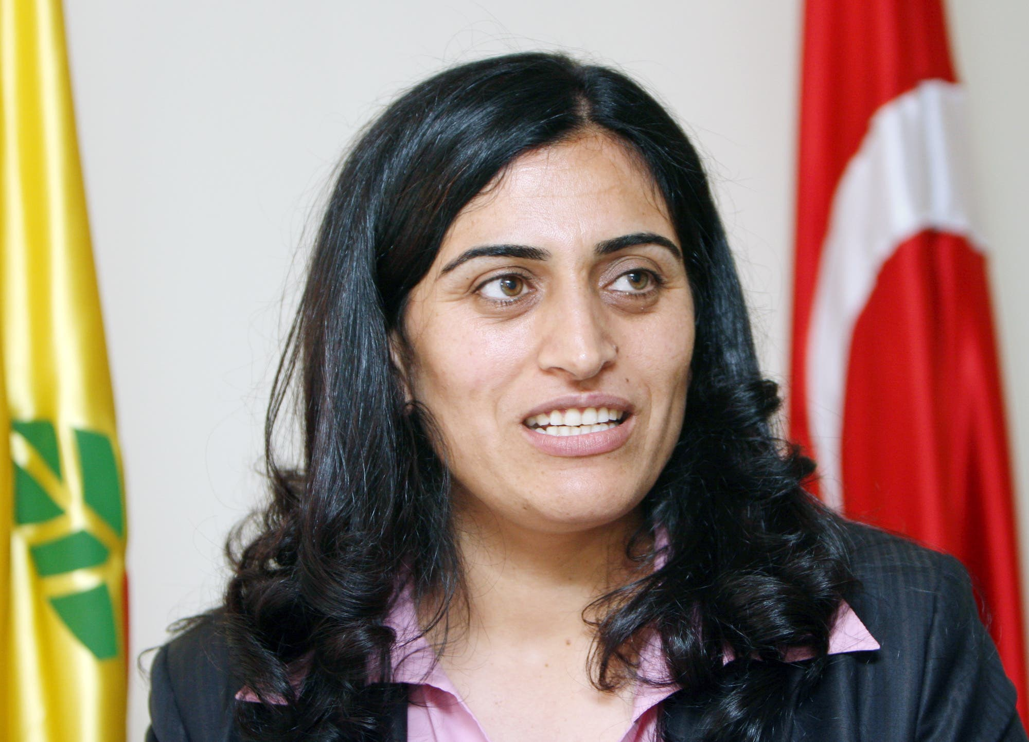 Sebahat Tuncel, after being elected, speaks to the Associated Press in Ankara, Thursday, Aug. 2, 2007. (File photo: AP)
