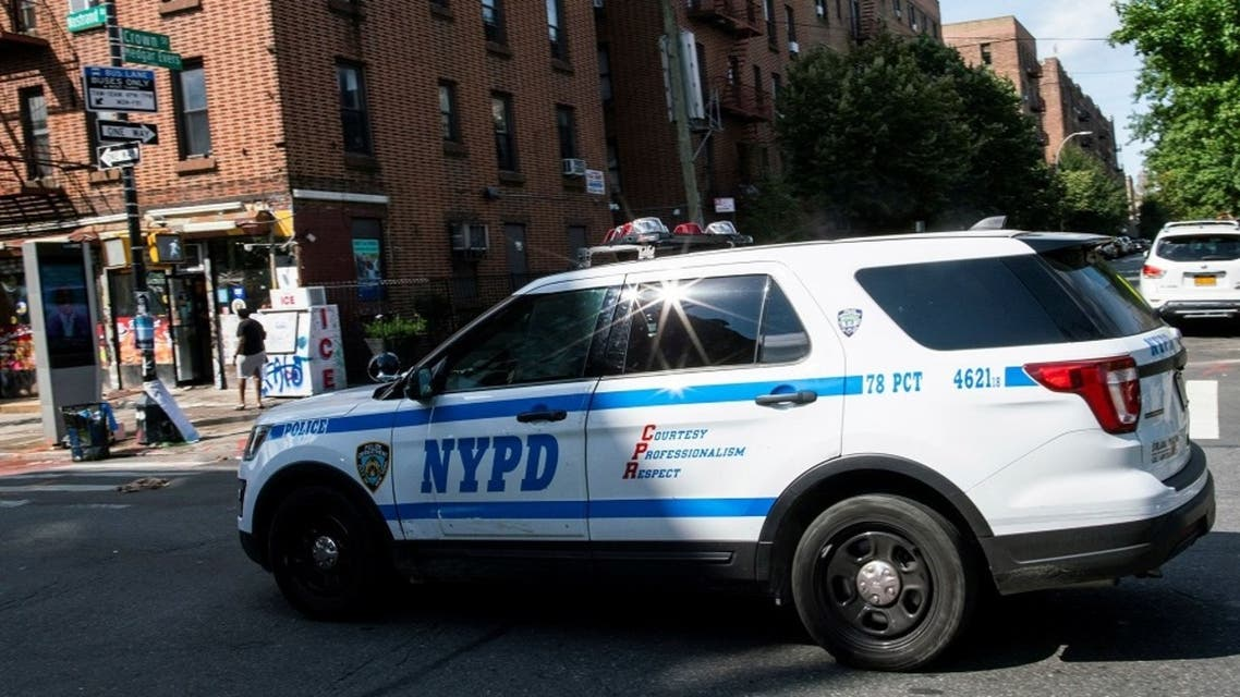 A NYPD car patrols an area in Brooklyn, New York, Sept. 7, 2020. (Reuters)