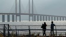 Russian navy vessel, container ship collide in Danish waters near the Oresund Bridge