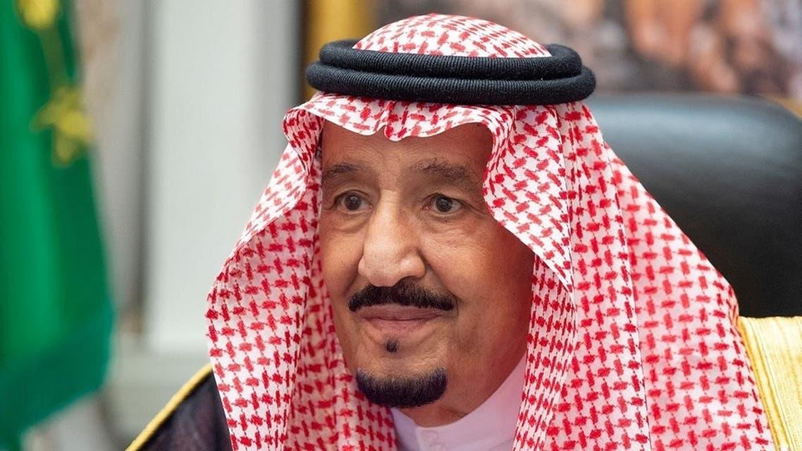 Saudi Arabia's King Salman bin Abdulaziz at a virtual cabinet meeting in Neom, Saudi Arabia, Aug. 18, 2020. (SPA)
