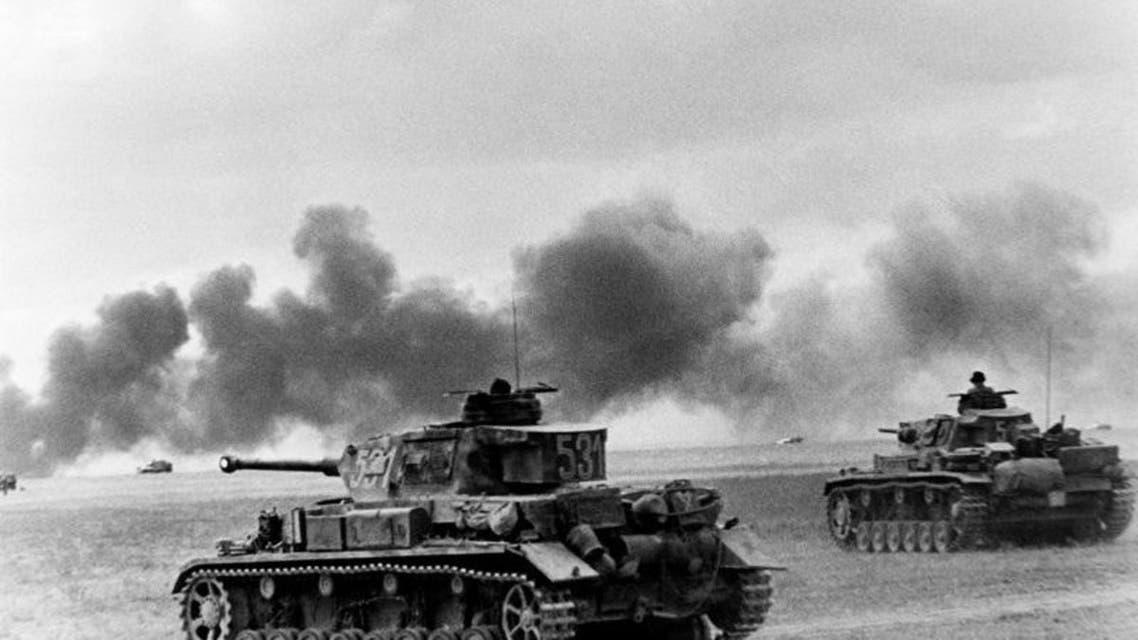 صورة لدبابات ألمانية عقب عملية اجتياح الإتحاد السوفيتي عام 1941