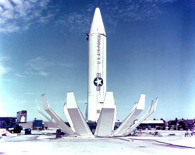 صورة لأحد الصواريخ الباليستية الأميركية زمن الأزمة الكوبية