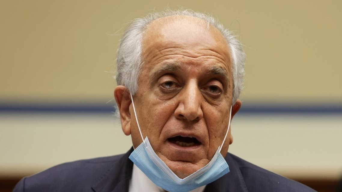 US Special Envoy for Afghanistan Zalmay Khalilzad testifies before Congress, Sept. 22, 2020 on Capitol Hill. (AFP)