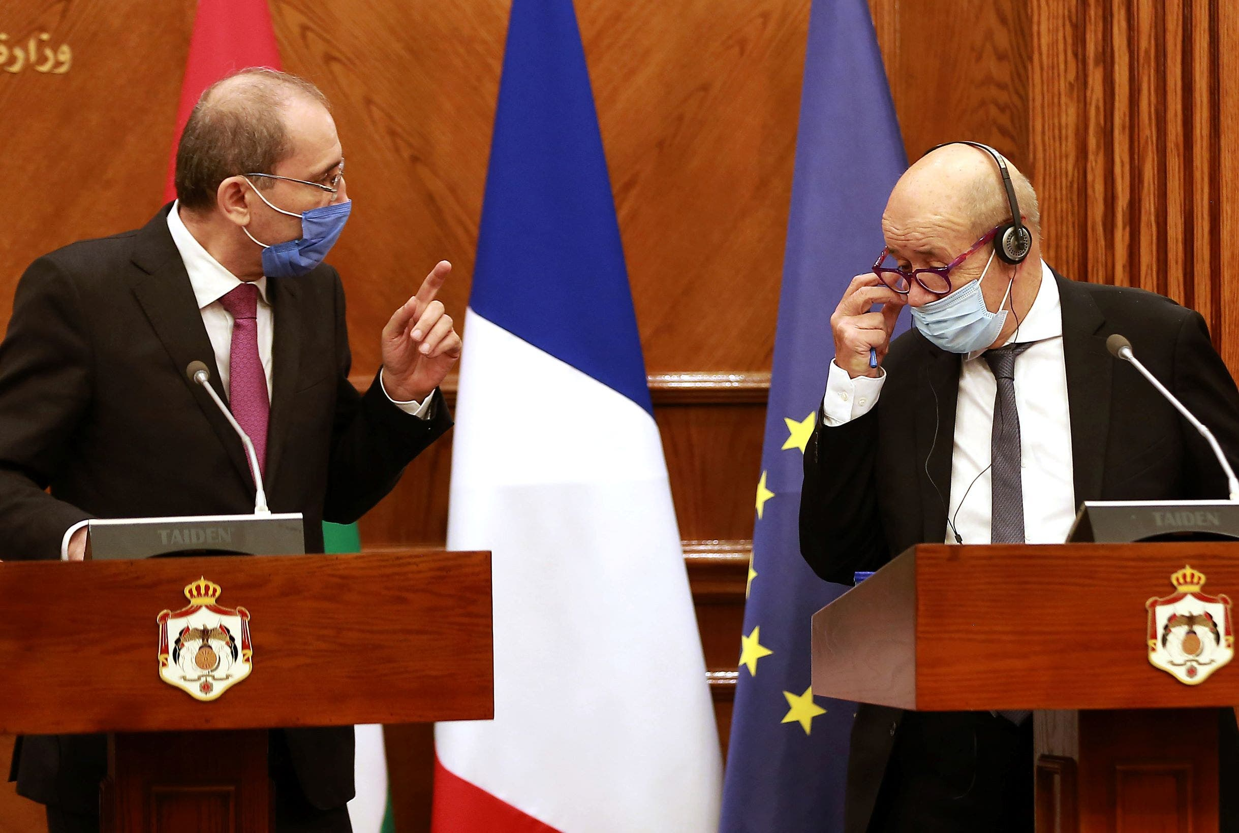 وزيرا خارجية فرنسا والأردن