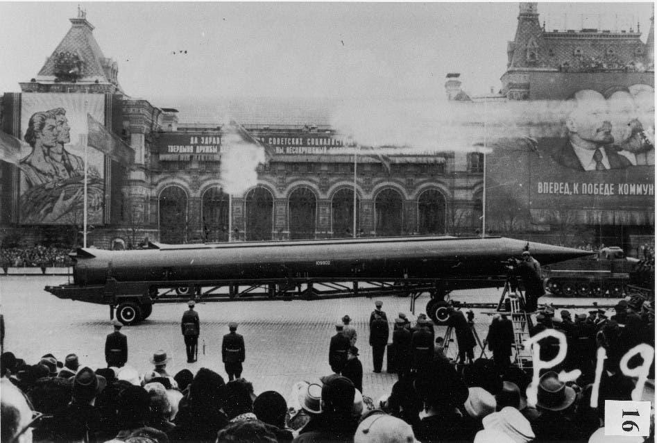 صورة لأحد الصواريخ السوفيتية بالقرن الماضي