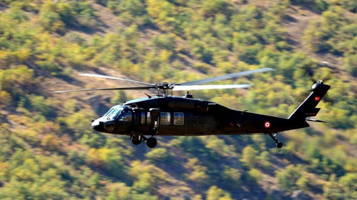 Turkey forces  threw 2 person form Helicopter