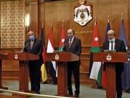 وزراء خارجية مصر والأردن وفرنسا وألمانيا يدعمون اتفاقات السلام الأخيرة