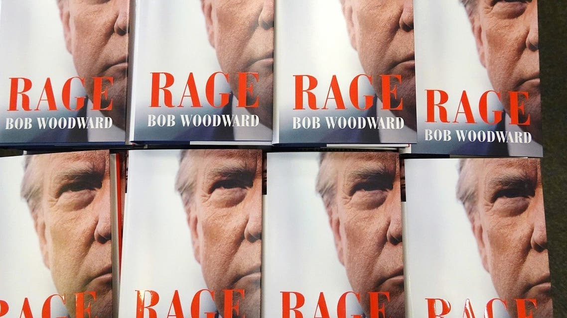 """""""Rage"""" by Bob Woodward is offered for sale at a Barnes & Noble store on September 15, 2020 in Chicago, Illinois. (AFP)"""