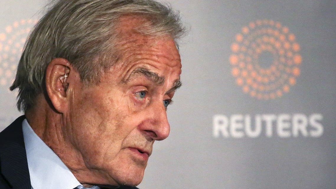 "Reuters Editor-at-Large Sir Harold Evans moderates a Reuters Newsmaker conversation ""Politics on the Edge,"" with Former British Prime Minister Tony Blair in Manhattan, New York, US, on September 20, 2016. (Reuters)"