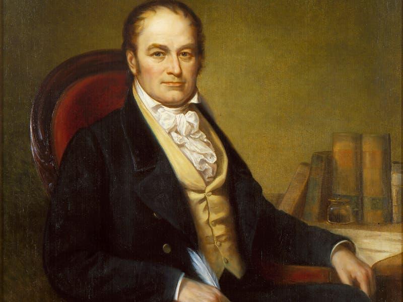لوحة تجسد شخصية ويليام هاريس كراوفورد