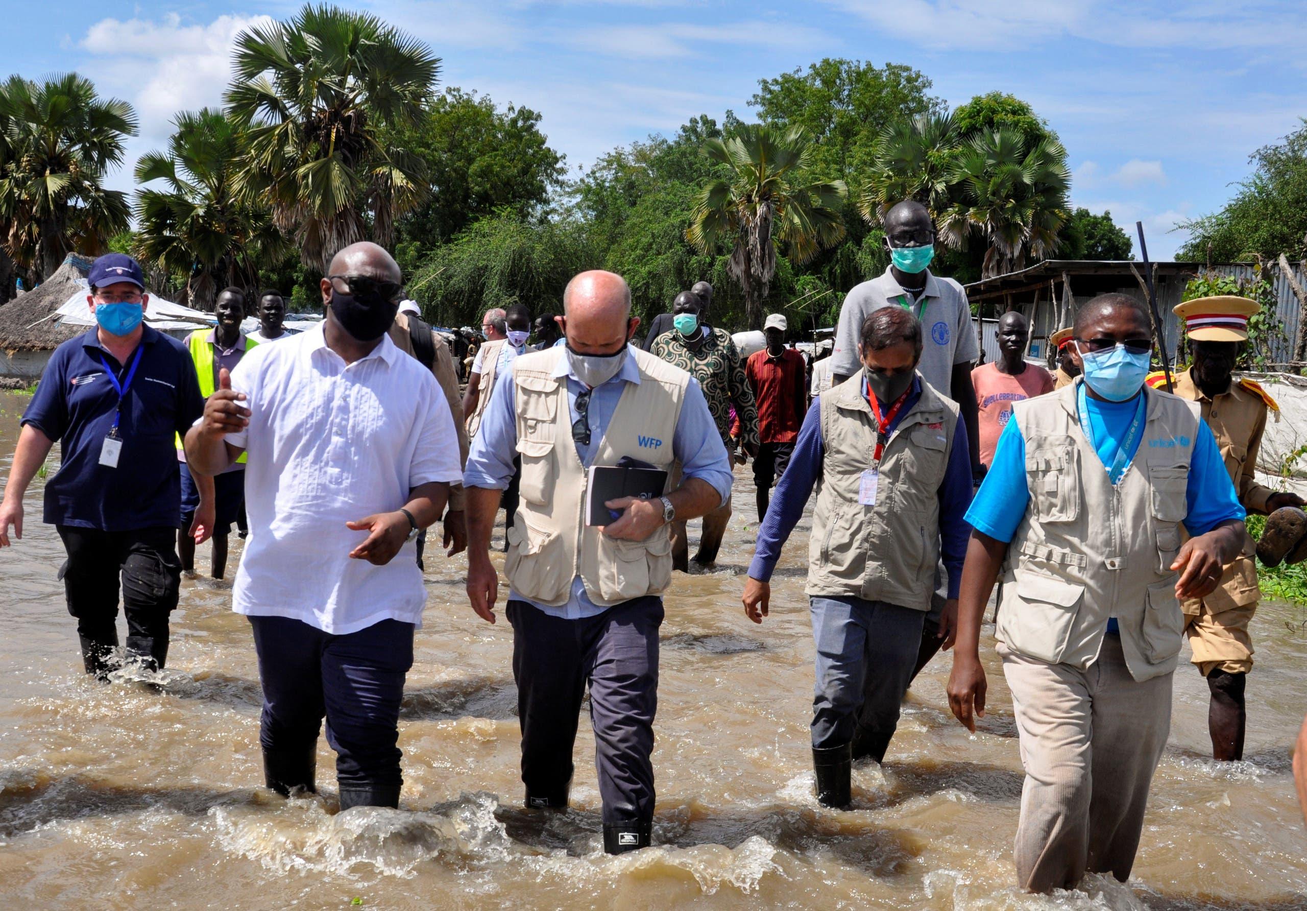 مسؤولون أمميون يتفقدون الأضرار في جنوب السودان