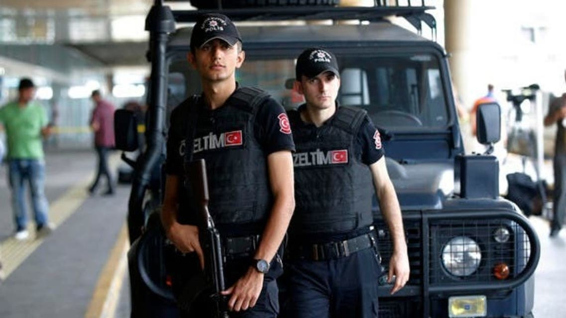 Members of Turkish special security force stand at the entrance of Ataturk Airport in Istanbul. (File photo: AP)