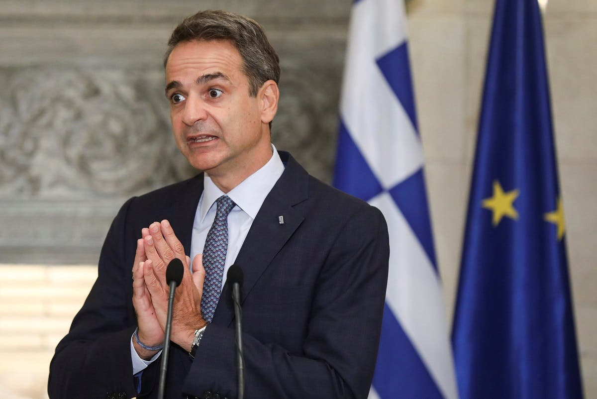 Greek Prime Minister Kyriakos Mitsotakis gestures during a news conference. (File photo: Reuters)
