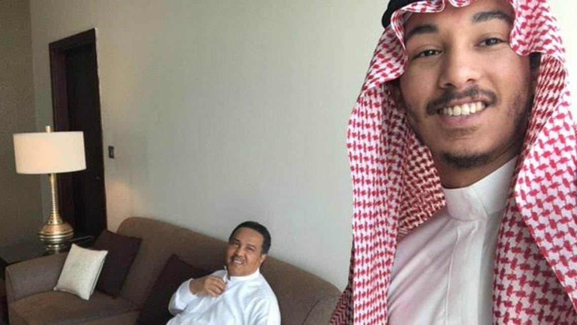 عبدالرحمن مع والده محمد عبده