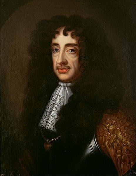 صورة لملك إنجلترا تشارلز الثاني